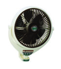 Smart Fans Louver Bracket Fan 14″ Remote Control Plastic-Off White-Dark Brown