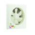 "Smart Fans ""Super"" model"" Wall Exhaust Fan Dual Action Plastic-Off White"