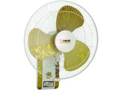 """Smart Fans """"Pride"""" model 18″ Wall Bracket Fan Plastic base Metal blade-Off white&Golden"""