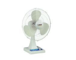 Smart Fans 18″ Table Fan Plastic base Metal blade-Off white