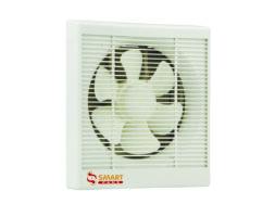 "Smart Fans ""Standard"" model"" Wall Exhaust Fan Dual Action Plastic-Off White"